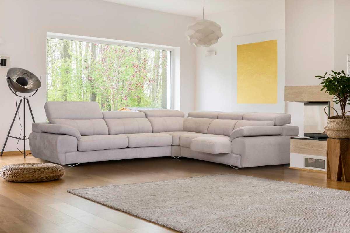 Sofá L16, mueble tapizado