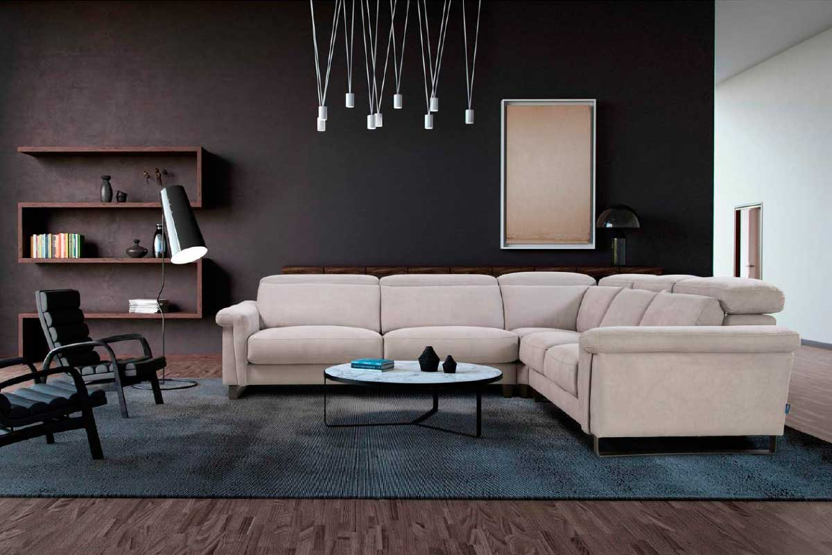 Sofá L36, mueble tapizado