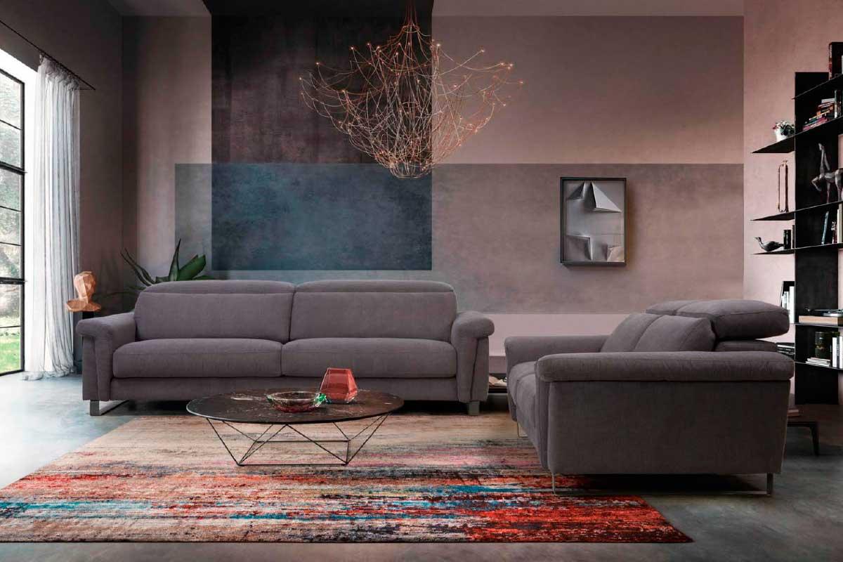 Sofá L37, mueble tapizado