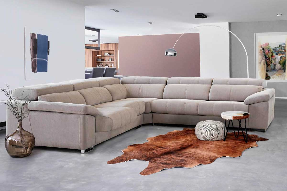 Sofá L19, mueble tapizado